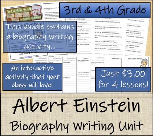 Albert Einstein- 5th & 6th Grade Close Read & Biography Writing Bundle