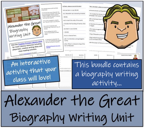 Alexander the Great - 5th & 6th Grade Close Read & Biography Writing Bundle