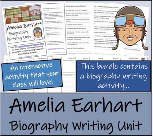 Amelia Earhart - 5th & 6th Grade Close Read & Biography Writing Bundle