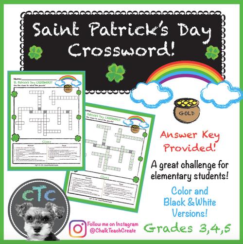 St. Patrick's Day Crossword Puzzle!