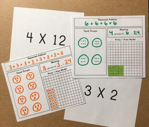 Interactive Multiplication Flashcards