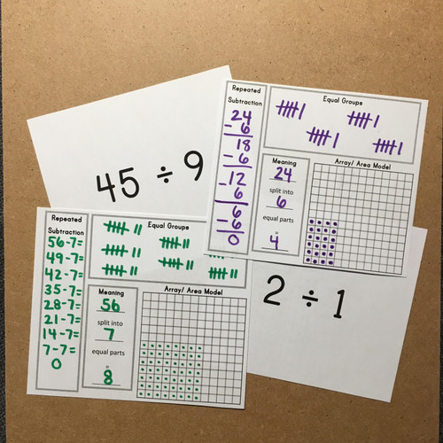 Interactive Division Flashcards