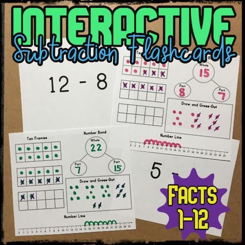 Interactive Subtraction Flashcards