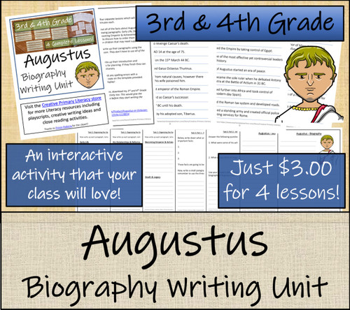 Augustus - 3rd & 4th Grade Biography Writing Activity