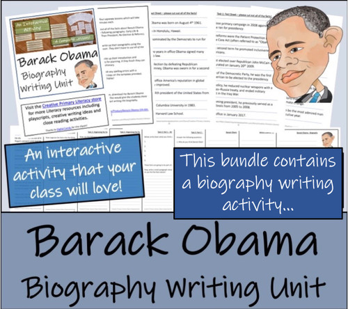 Barack Obama - 5th & 6th Grade Close Read & Biography Writing Bundle