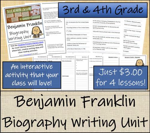 Benjamin Franklin - 3rd & 4th Grade Biography Writing Activity