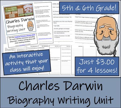 Charles Darwin - 5th & 6th Grade Biography Writing Activity