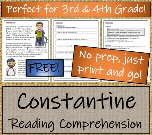 Constantine - 3rd & 4th Grade Close Reading Activity