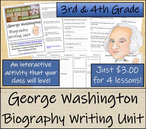 George Washington - 3rd & 4th Grade Biography Writing Activity