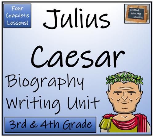 Julius Caesar - 3rd & 4th Grade Biography Writing Activity