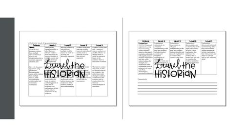 Essay Rubric Argumentation & Historical Thinking Skills C3 Framework