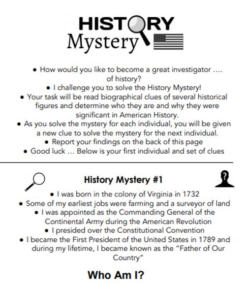 History Mystery - 8th Grade Social Studies STAAR Scavenger Hunt