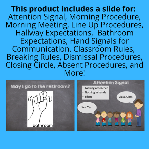 First Days of School PowerPoint: Teaching Procedures