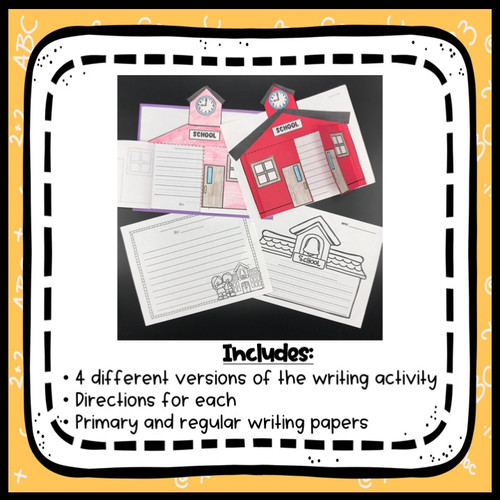 Schoolhouse Writing Craftivity