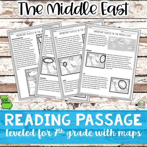 Geography in the Middle East (SS7G5b)