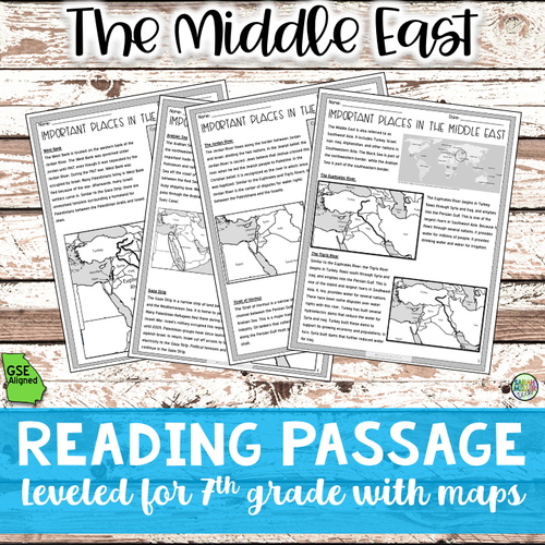 Geography in the Middle East Reading Packet (SS7G5a)