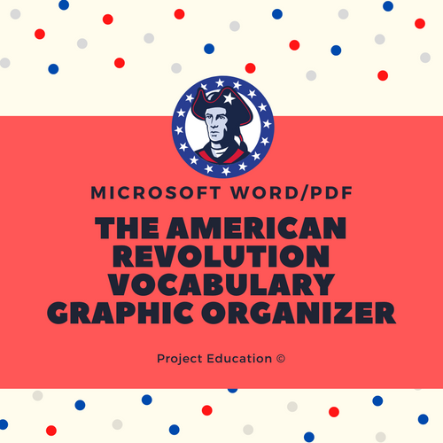 American Revolution Vocabulary Graphic Organizer