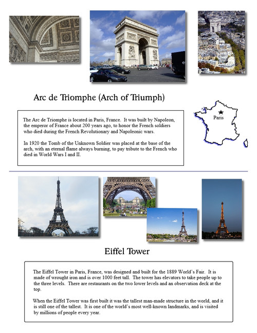 Famous Landmarks & Wonders of the World - Geography - Print, E-book & Bingo!
