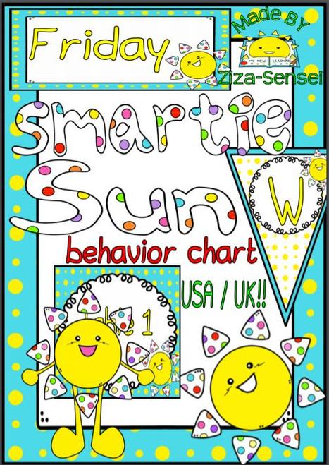 FREE Smartie Sun Pal Behavior Chart