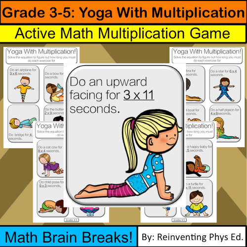 Multiplication Game With Yoga: Math Brain Breaks