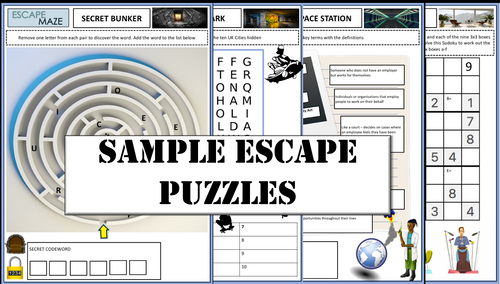 3rd Gen Maths Digital Escape Room