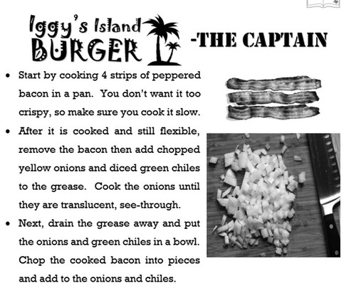 Free Resource Cheeseburger Procedural Text