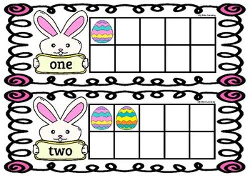Easter Bunny Ten Frames