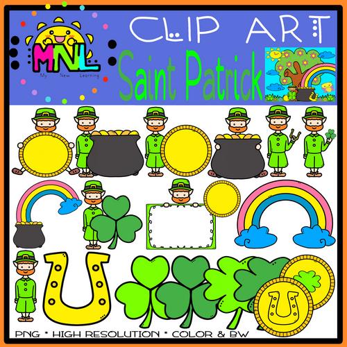 Saint Patrick/ Leprechaun Clip Art (March - 40 images)