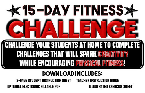 15 Day Fitness Challenge- Great for PE Distance Learning