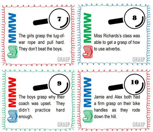 GRASP Free Multiple Meaning Word Packet