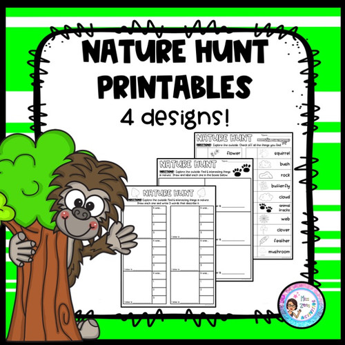 Nature Scavenger Hunt - Distance Learning Resource