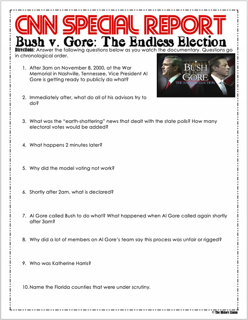Bush v. Gore: The Endless Election - CNN Special - Distance Learning