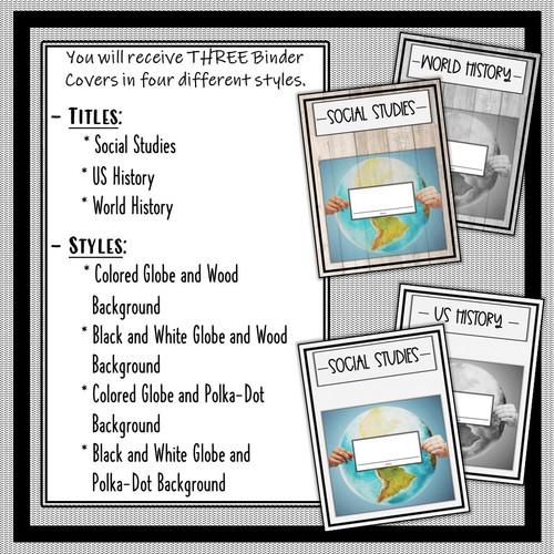 Social Studies Binder Covers- FREE!