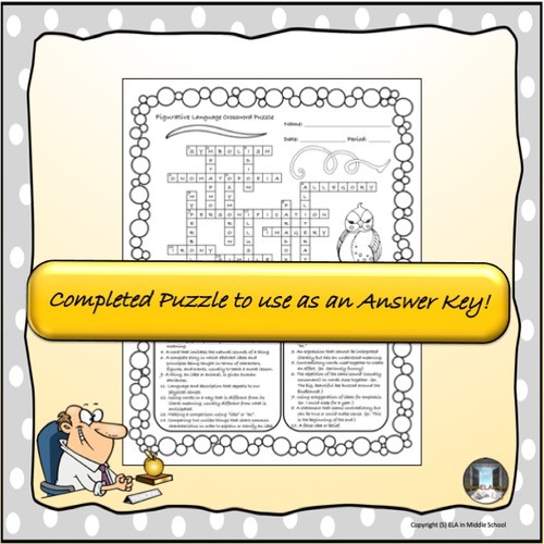 Figurative Language Crosswords (and Doodles!)!