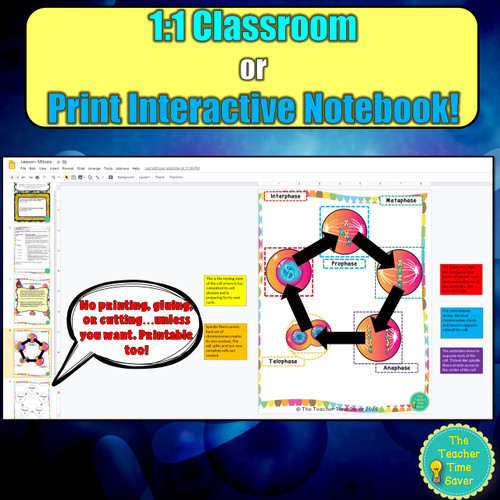 Cell Biology Digital and Printable Interactive Notebook