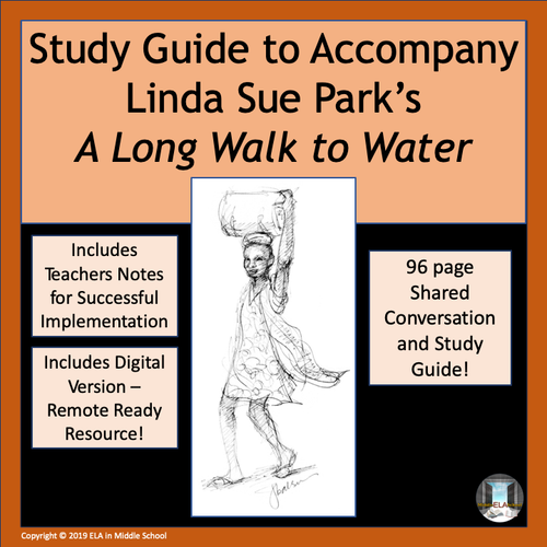 """""""A Long Walk to Water"""" Novel Study Guide REMOTE RESOURCE READY"""