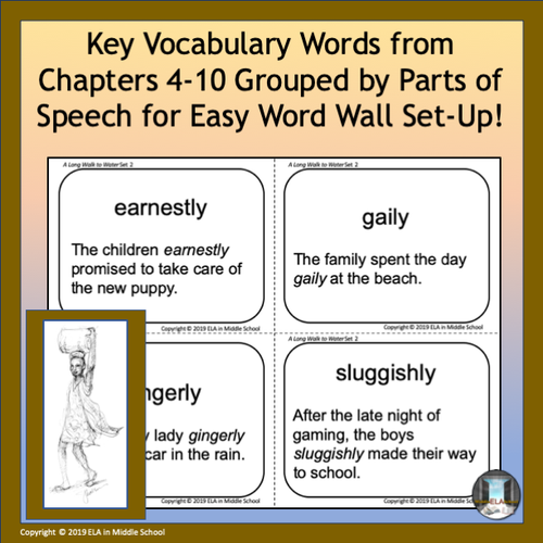 A Long Walk to Water Vocabulary Flashcards and Word Wall Set 2