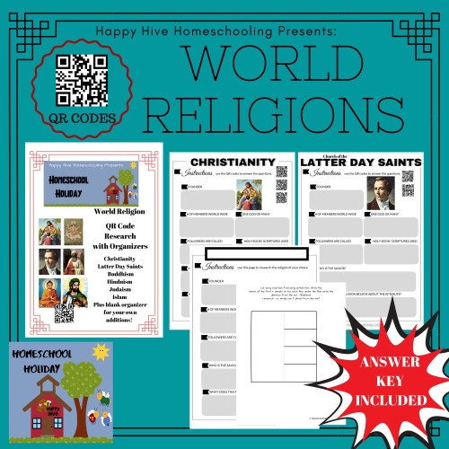 World Religion QR Codes and Research Organizers