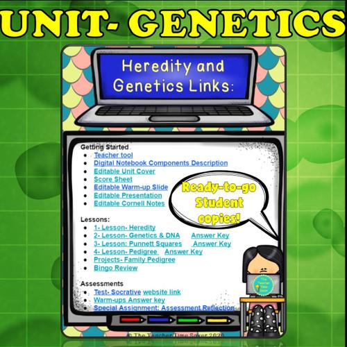 Genetics & Heredity Biology Digital Interactive Notebook