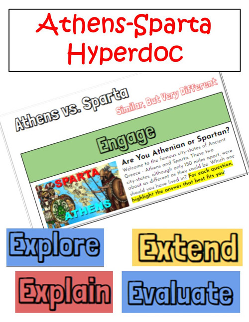 Athens-Sparta Hyperdoc: Greek City-States Comparison WebQuest
