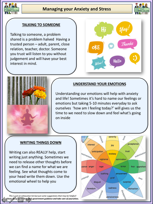 Dealing with Anxiety Older Students