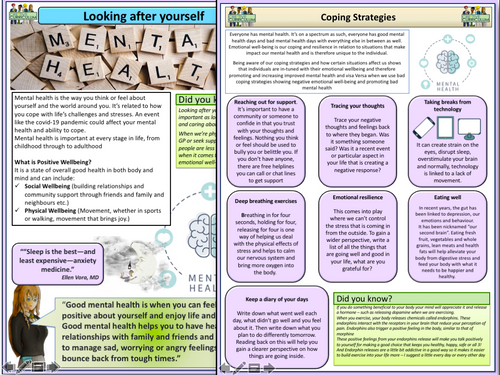 Coping Strategies for Mental Health Posters
