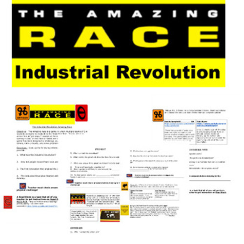 Amazing Race Industrial Revolution Game