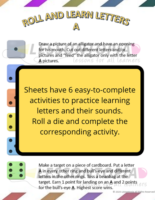 Roll and Learn Letters
