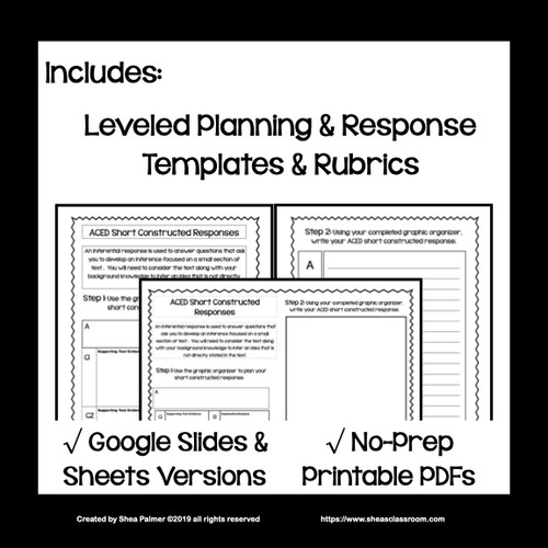 ACED Planning & Response Writing Mini-Unit