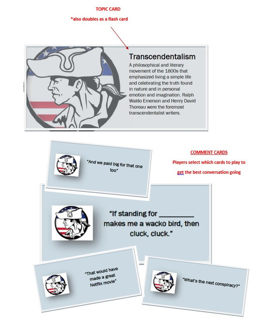 US HISTORY  (The THOUGHTFUL HISTORIAN) CARD game