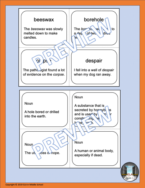 Power Words! Vocabulary Building Flashcards and Word Wall Set 5