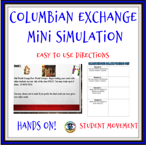 Columbian Exchange Mini Simulation