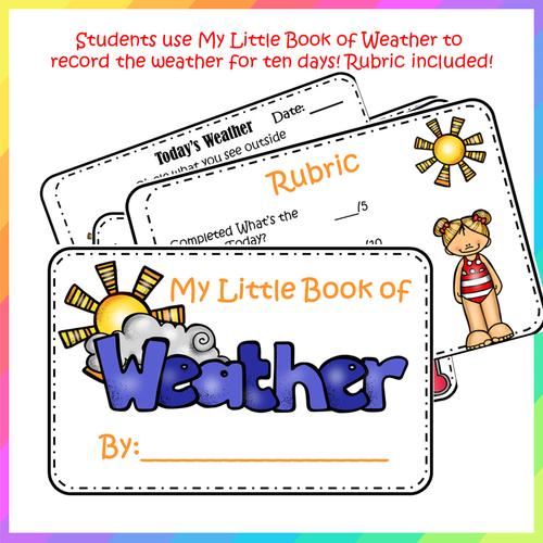 Today's Weather - Complete Kindergarten Unit!