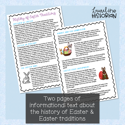 History of Easter Reading Comprehension